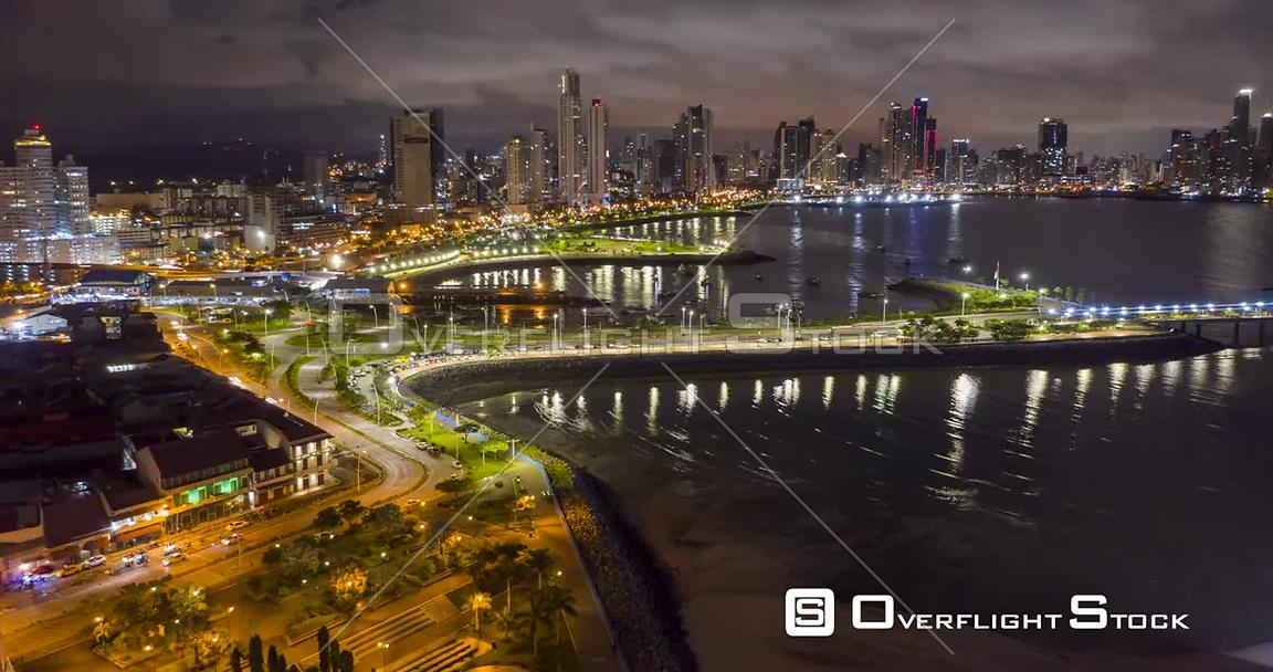 Timelapse Night Panama City