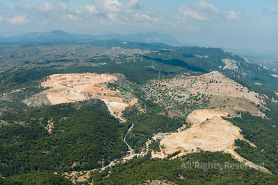 Aerial Image of Mine Near Kallithea Greece