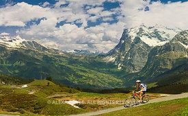 Cycling in Swiss Alps
