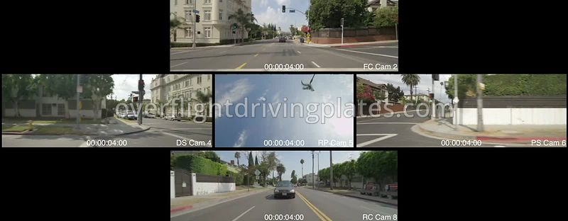Mixed residential  Los Angeles California USA - Driving Plate Preview 2012