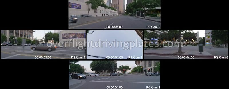 Hope Street  Los Angeles California USA - Driving Plate Preview 2012