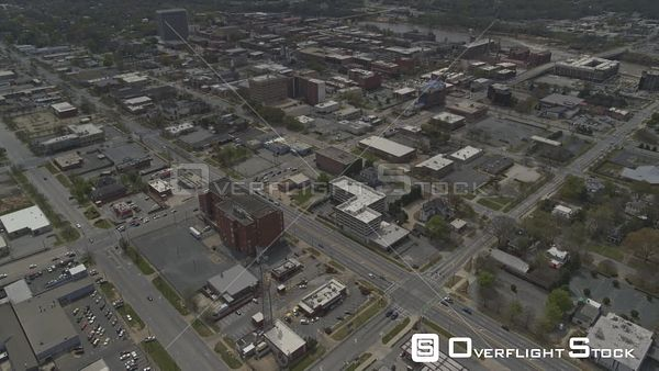 Georgia Columbus Birdseye Downtown Cityscape Phenix City