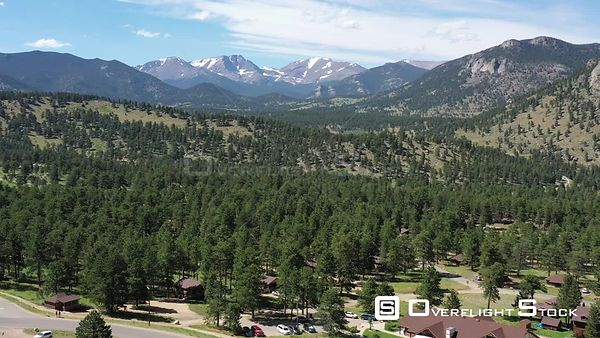 Mountain views and trees, Rocky Mountain National Park, Estes Park, Colorado, USA