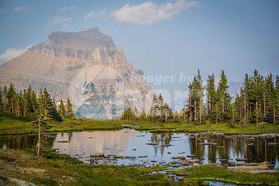 A wonderful view of the mountains at Glacier National Park