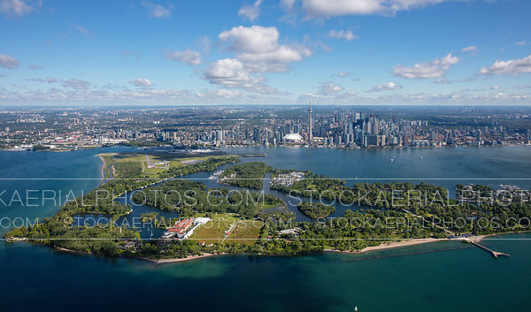 Toronto Islands and downtown skyline