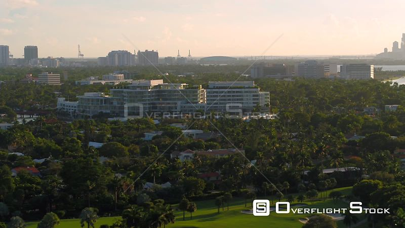 Aerial footage The Ritz Carlton Residences Miami Beach 4k