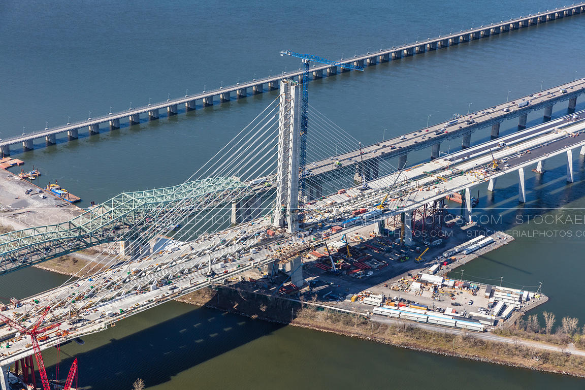 Champlain Bridge Construction 2019