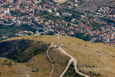 Cross Monument in the Hills of Village of Mostar Republika Srpska, Bosnia and Herzegovina