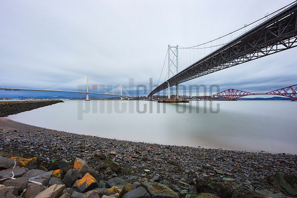 New Queensferry Crossing, Forth Road Bridge and Forth Railway Bridge
