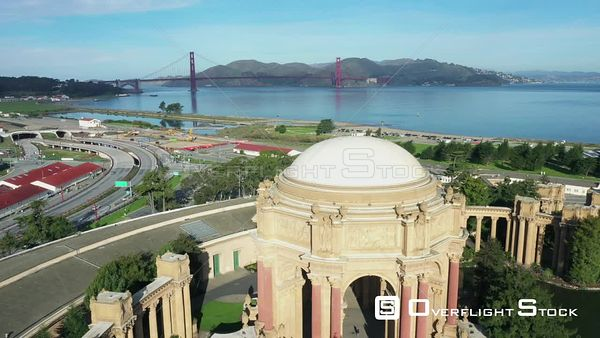 Palace of Fine Arts San Francisco California Drone Aerial View