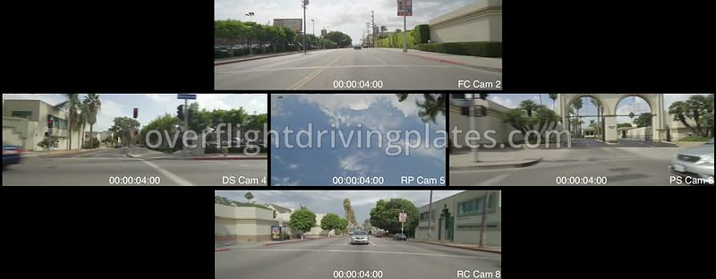 Hollywood Melrose Avenue  Los Angeles California USA - Driving Plate Preview 2012