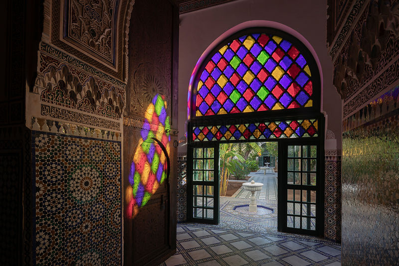 Light Cast by Stained Glass Windows in Bahia Palace