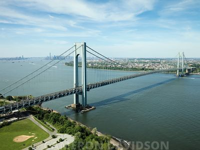 Aerial, Staten Island Bridge, New York City