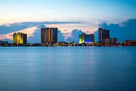 Pensacola Beach Florida Skyline at Sunrise Photo