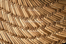 Braided straw texture in oval shape