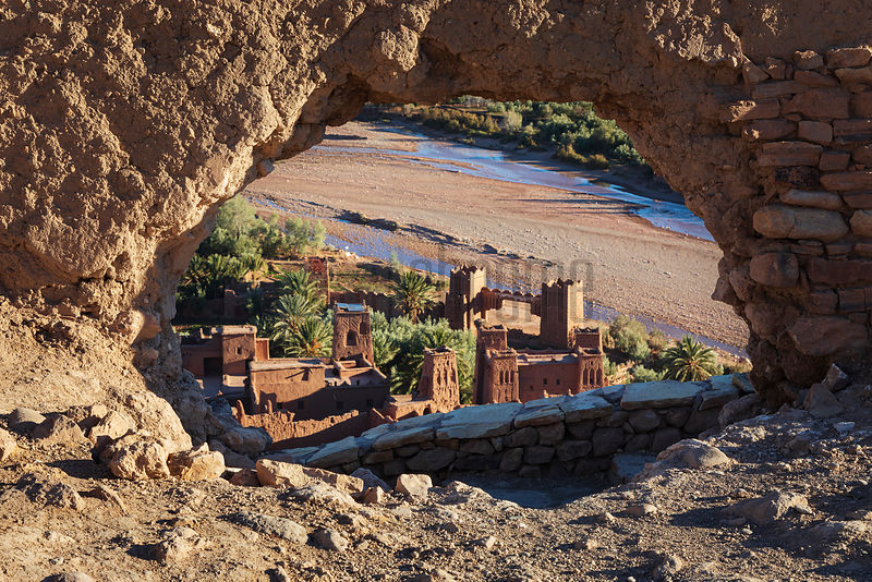 The Ksar of Ait Ben Haddou through a Hole in the Fortress Wall