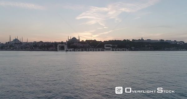 Aerial View of Hagia Sophia Istanbul Mosque Turkey