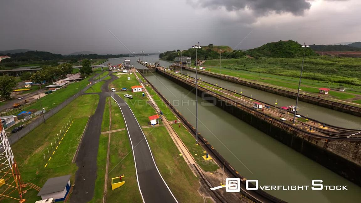 Panama Panning time lapse of the Panama Canal