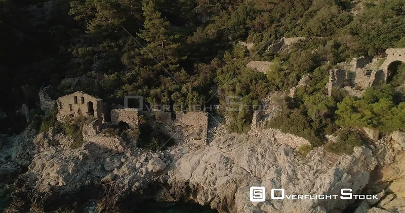Paradise Bay Ancient Ruins in Kabak Faralya Turkey