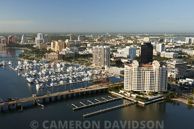 Aerial photograph of West Palm Beach