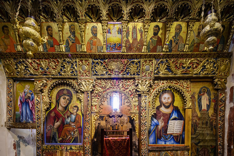 Detail of the Iconostasis at the Transfiguration of the Saviour Church