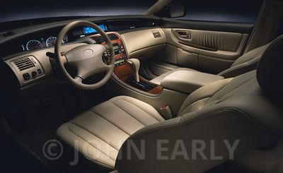 Moody Tan Dash Interior of a Sedan