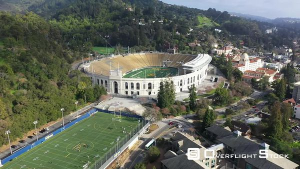 Memorial Stadium Drone Aerial View University of California Berkeley