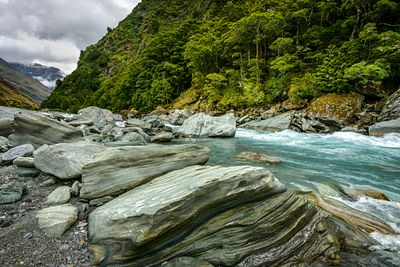 Glacial Matukituki River which flows into Lake Wanaka.