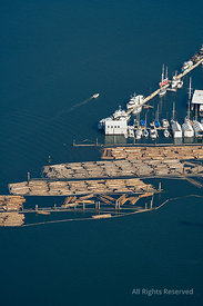 Log Booms Olympia Washington USA