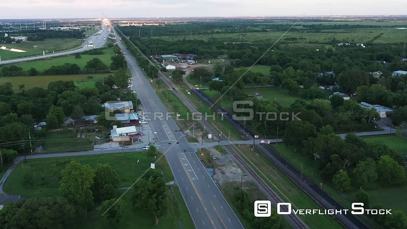 Small Town Just off the Highway, Hockley, Texas, USA