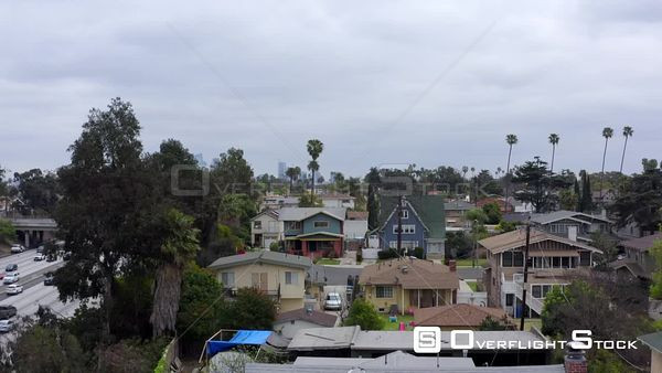 Mid City Neighbourhood Los Angeles California Drone Aerial View