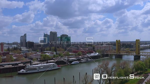 Drone Video of Old Downtown and River Sacramento California -- Available in HD and 4k -- 3840 x 2160 - 853.8 MB - QuickTime M...