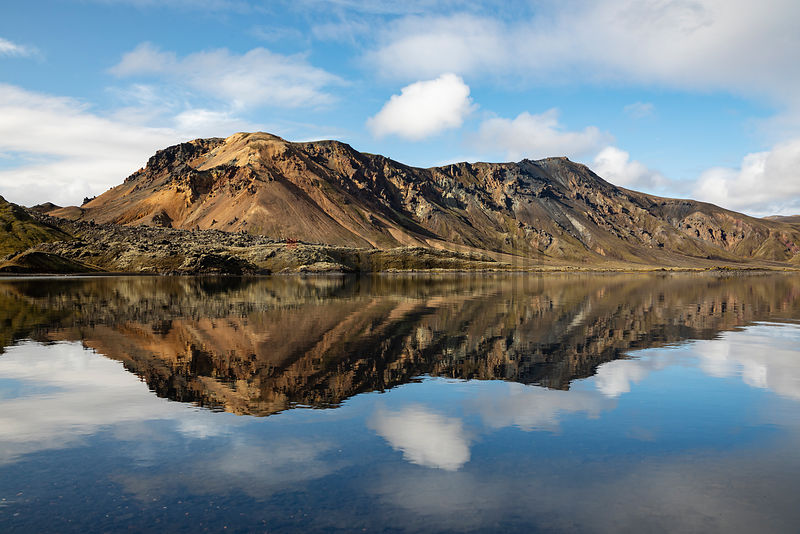 Lake Reflections near Landmannalaugar