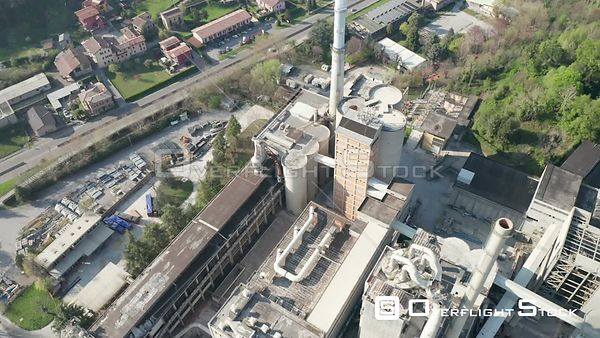 Drone Video Abandoned Cement Plant Merone Italy
