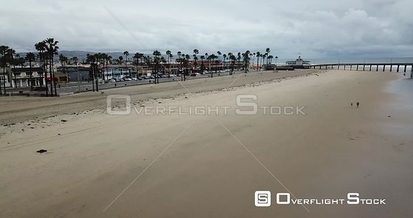 Drone Video Los Angeles Beach during COVID-19 Pandemic