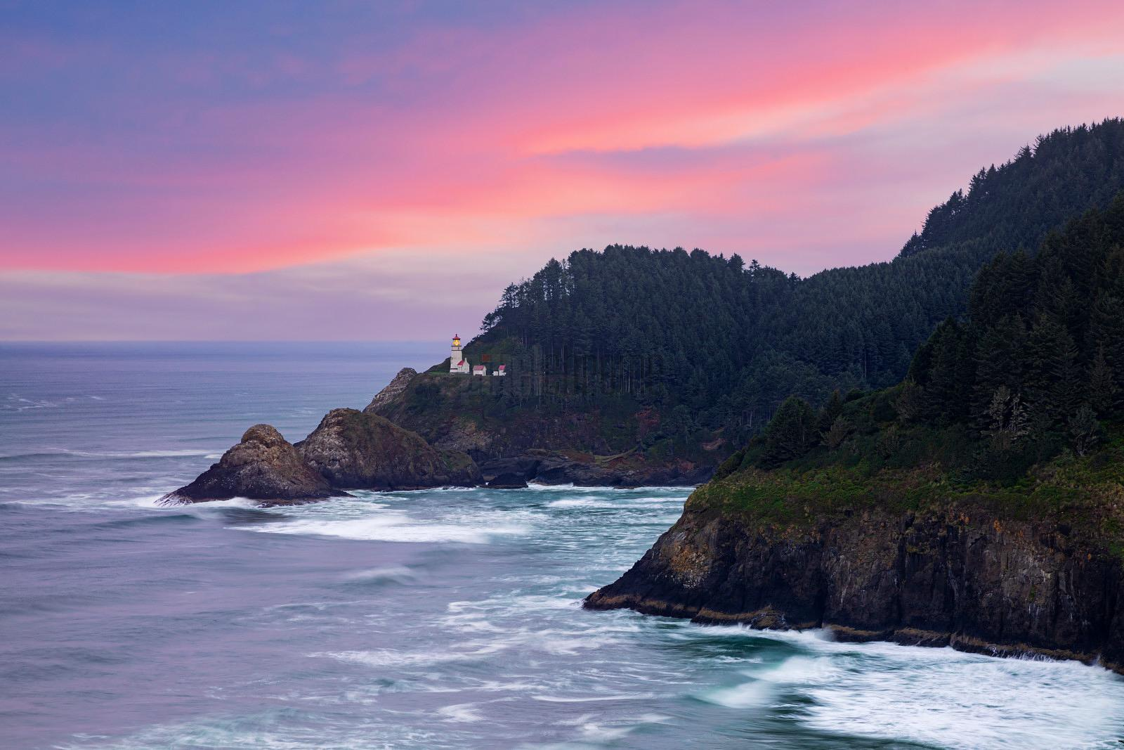 Heceta Head Lighthouse at Dawn