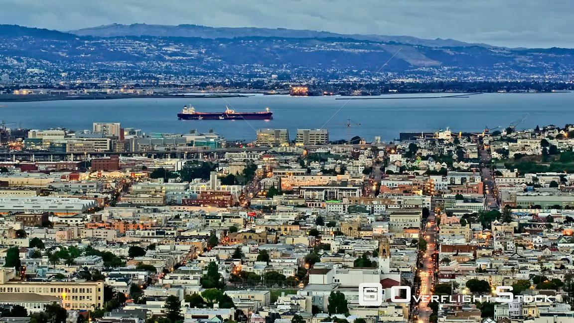 San Francisco California USA San Francisco cityscape time lapse using a detailed photo effect