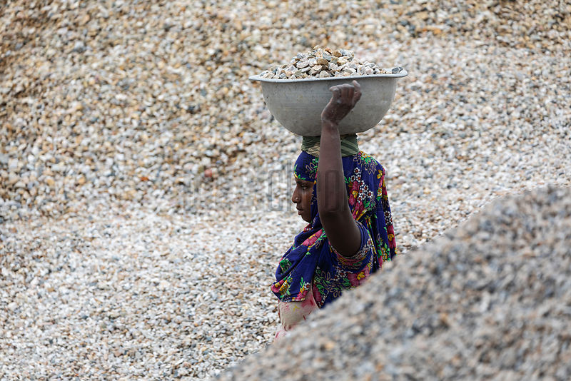 Portrait of a Worker Gravel at the Jaflong Batching Plant