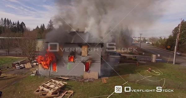 Drone Video House Fire Oregon