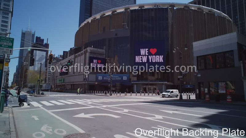 Madison Square Gardens During Covid-19 Pandemic Midtown Mahattan New York New York USA - BackingPlate May 12, 2020