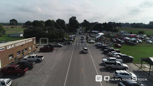 Drone Video Outside Flea Market Dunn North Carolina