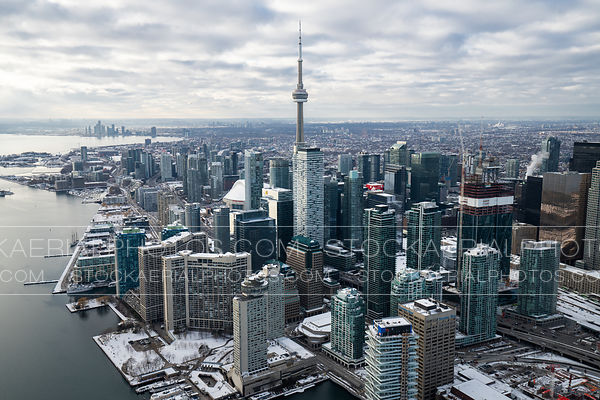 Downtown Toronto with snow