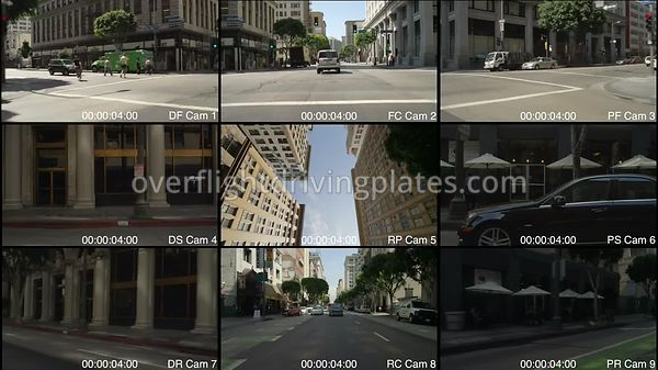 8th Street Downtown  Los Angeles California USA - Driving Plate Preview 2012