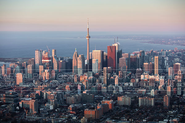 Downtown Toronto at sunrise