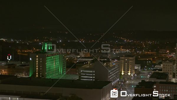 Montgomery Alabama modern commercial offices and the historic capitol building ascending reveal shot  DJI Inspire 2, X7, 6k