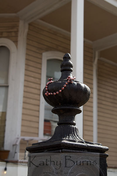 New Orleans black fence top finial