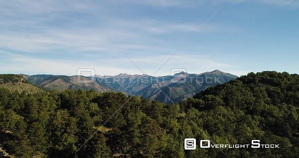 Mountain landscape revealed from behind forest on mountain, Alps, Sospel, France