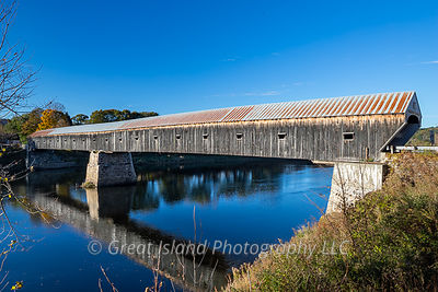 Covered Bridge across the Connecticut River