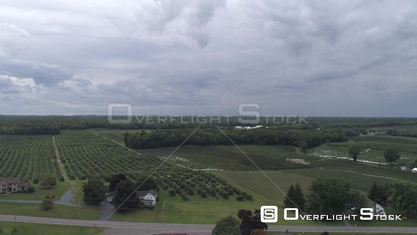 Orchards Along Lake Ontario New York Drone Video