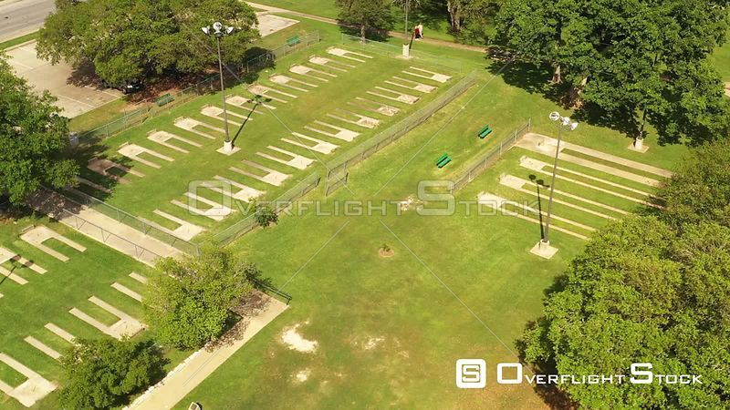 Empty Horseshoe Courts due to Covid 19, Bryan, Texas, USA